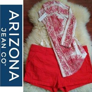 Arizona   Corduroy Stretch Shorts Orange